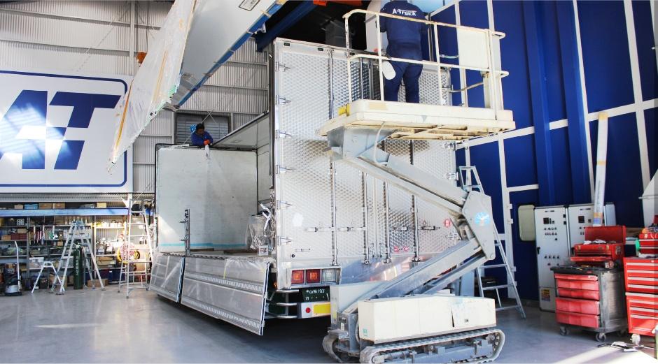 冷凍車・トラックならではの技術力 A-TRUCKの鈑金・塗装